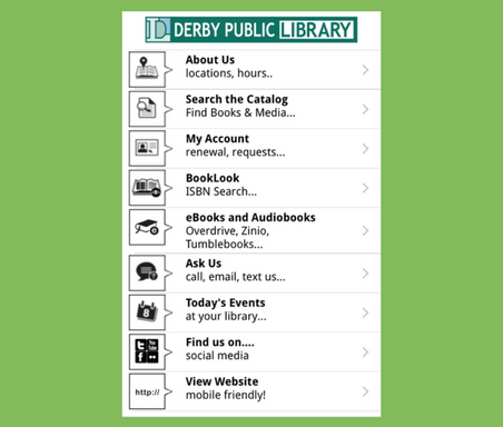 Get the Derby Library App